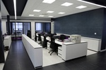 clean office reception area